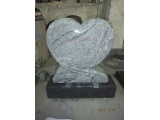 Polished Heart Tombstone With Base
