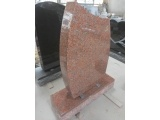 Maple Red G652 Upright Headstone